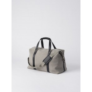 Canvas Weekender Bag - Light Grey