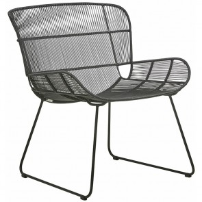Granada Butterfly Occasional Chair by Globe West - Licorice