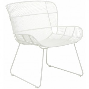Granada Butterfly Occasional Chair by Globe West - White