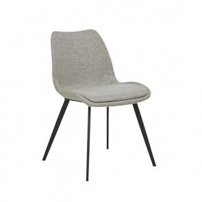 Isaac Dining Chair - Woven Putty/Black