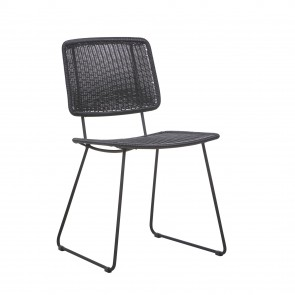 Mauritius Open Dining Chair by Globe West- Licorice