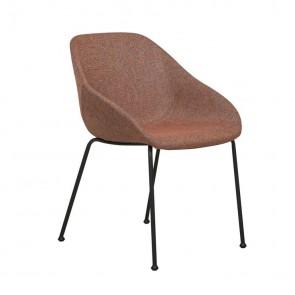 Ronald Arm Chair - Terracotta Black