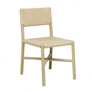 Seed Flat Leather Chair - Natural/Drift