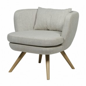 Sketch Bowler Occasional Chair by Globe West - Dove