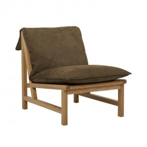 Sketch Cantaloupe Occasional Chair by Globe West - Moss