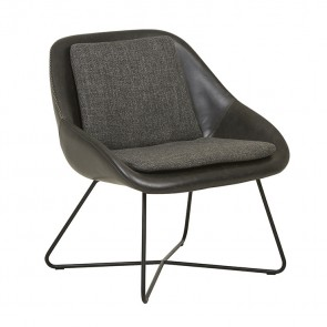 Stefan Occasional Chair - Black/Woven Charcoal