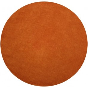Chicago Burnt Orange Round Floor Rug