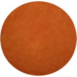 Chicago Burnt Orange Round Floor Rug