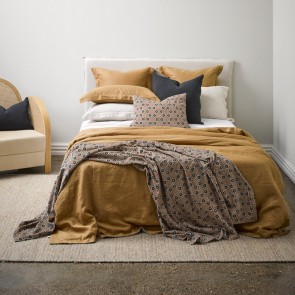 Linen Cinnamon Duvet Cover - NZ Made