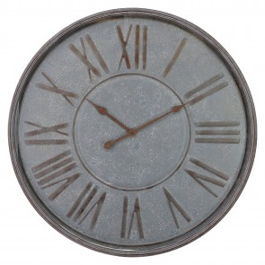 Oversize Rustic Iron Wall Clock