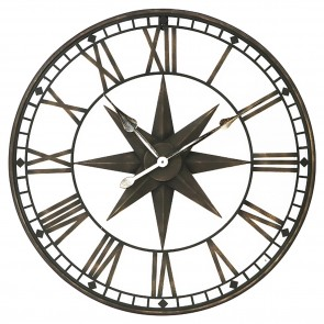 Oversize Star Iron Wall Clock
