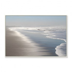 Clear Coastline Framed Canvas Print