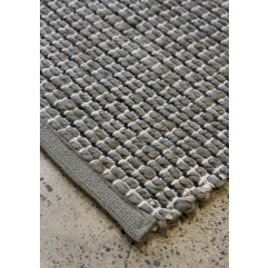 Limon Clyde Jute Cotton Storm Grey Floor Rug