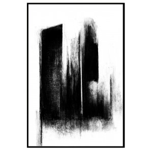 Brush Strokes I Print with Black Frame