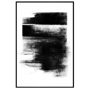 Brush Strokes Print with Black Frame