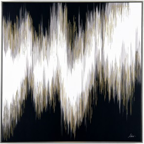 Weave Abstract Framed Canvas Art