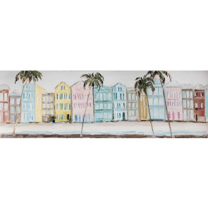 Pastel High Rise Canvas Art