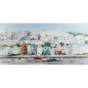 Pastel Terraces Canvas Art