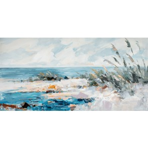 Remote Beach Canvas Art