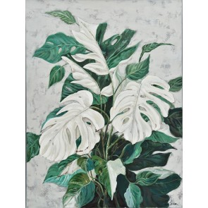 Minty Monstera Canvas Art