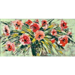 Peachy Arrangement Canvas Art