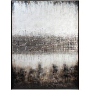 Horizon Oil Painting with Black/Silver Frame