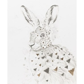 Geo Bunny Canvas Art