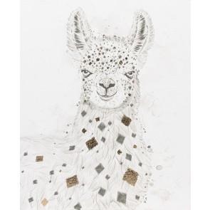 Geo Llama Canvas Art