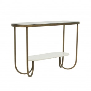 Amelie Curve Console Antique Brass/White by Globe West