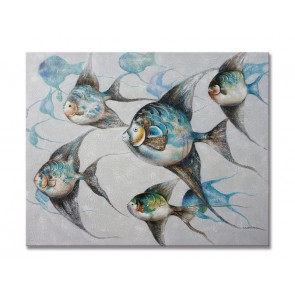 Oil Painting Tropical Fish