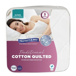 PROTECT-A-BED Quiltguard Cotton Quilted Mattress Protector
