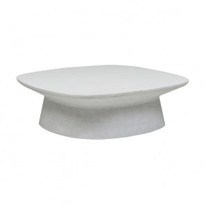 Livorno Curve Outdoor Coffee Table White