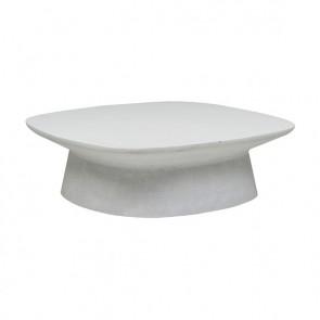 Livorno Curve Outdoor Coffee Table White