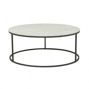 Elle Round Coffee Table - Black/White