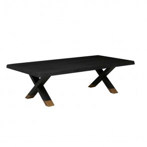 Wyatt Cross Coffee Table Matt Black