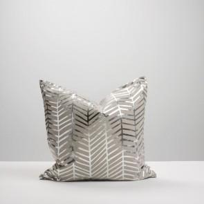 Silver Herringbone Cushion