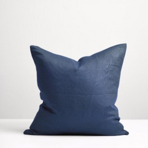 Thread Design Navy Linen Cushion