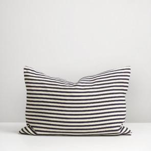 Thread Design Navy Ticking Stripe Cushion