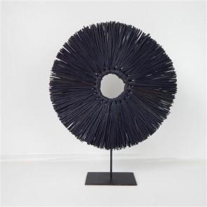 Panang Grass Circle with Stand - Black