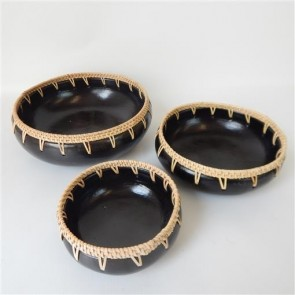 Set of 3 Lombok Bowls Set of 3 Rattan