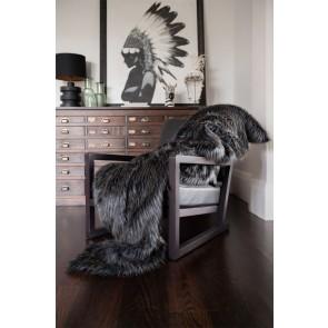 Heirloom Dark Pheasant Faux Fur Throw