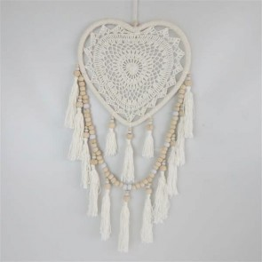 Boho Heart Dreamcatcher Cream
