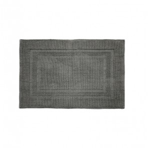 Cotton Deluxe Bath Mat by Bambury - Pewter
