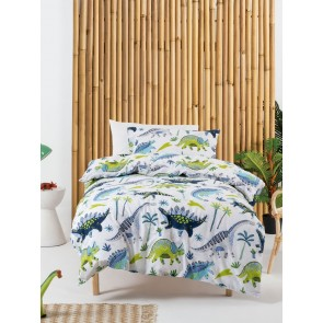 Dino Dudes Kids Duvet Cover Set by Squiggles