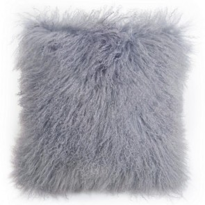 Tibetan Sheepskin Cushion by Auskin - Dove