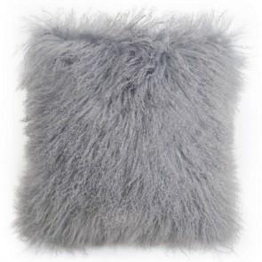 Tibetan Sheepskin Cushion by Auskin - Dove