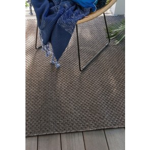 Mulberi In & Outdoor Floor Rug Flax - Pewter
