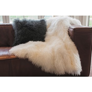 Tibetan Lamb Natural White Throw