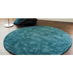 Chicago Teal Round Floor Rug