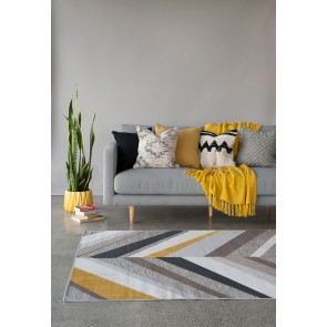 Kline - Natural-Yellow Floor Rug